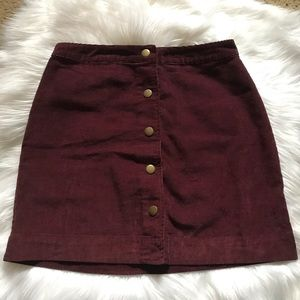 Old Navy Corduroy Button-Up Skirt